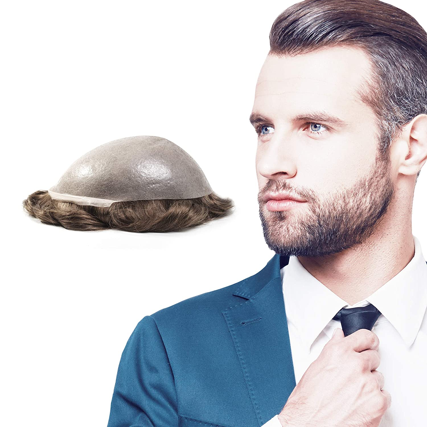 Superhairpieces Men's Toupee Over item handling Haipiece NM101B Remy Hair Indian In a popularity 0.