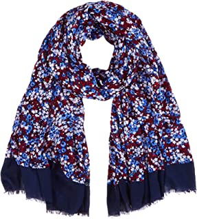 Sweetcorn TOMMY HILFIGER TH Monogram Print Scarf Tuch Accessoire Tommy Navy