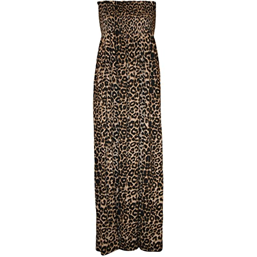 1e0cbce7329 WearAll Plus Size Womens Printed Bandeau Stapless Ladies Shirred Long Maxi  Dress - 16-22