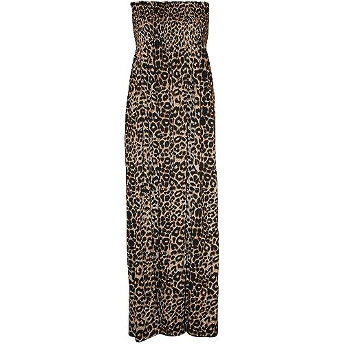 b9152e2060f WearAll Plus Size Womens Printed Bandeau Stapless Ladies Shirred Long Maxi  Dress - 16-22