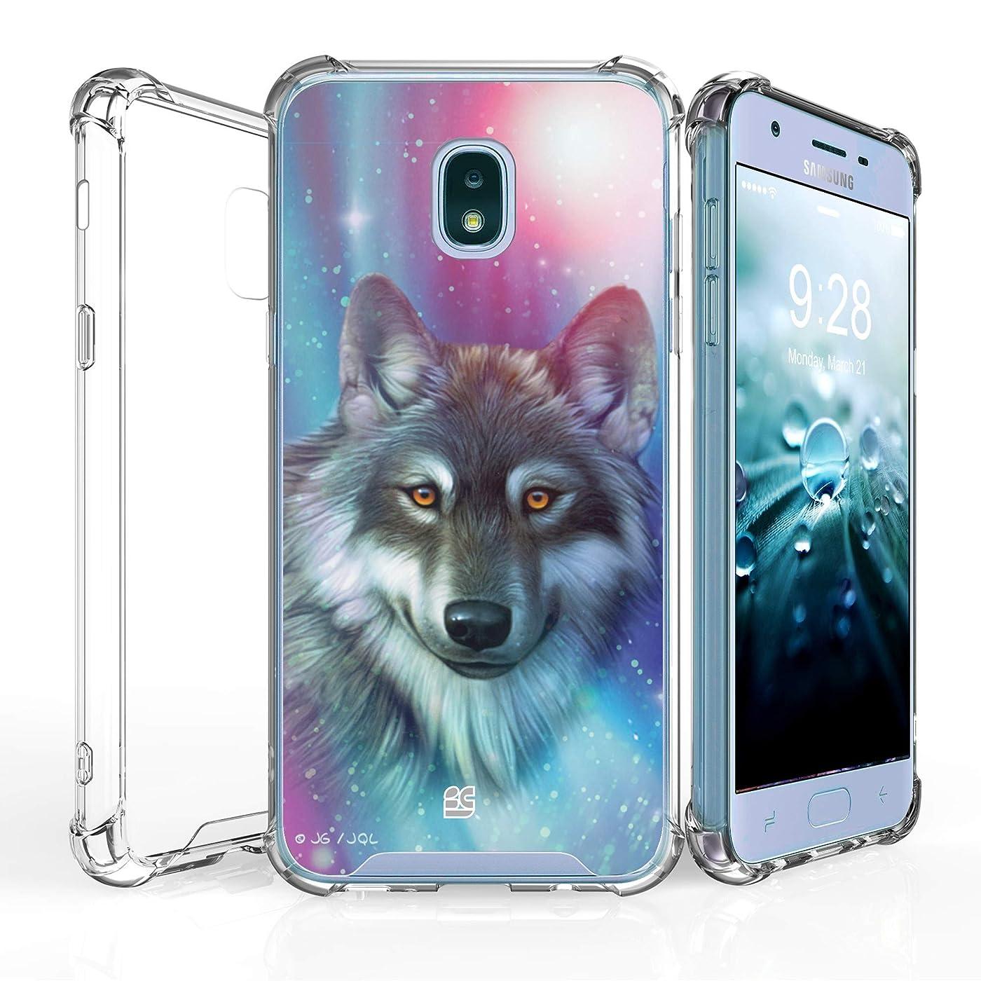for Samsung Galaxy J7 (2018), J7 Refine, J7 Star, J7V 2nd Gen, J737 [Shockproof] Hybrid Slim Cover w/[Air Pocket Corners] Case - Lone Wolf nrje800981694130