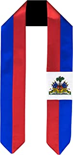 Haiti Flag Graduation Sash/Stole International Study Abroad Adult Unisex