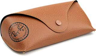 Ray Ban Brown Leather Medium Case,Booklet,Cloth