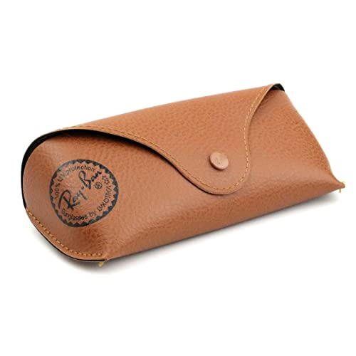 296c3a8364 Ray Ban Original Brown Leather Style Medium Case - Fits most Rayban  Sunglasses