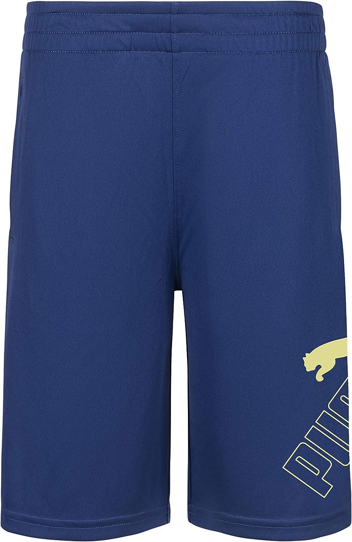 PUMA Boys' Amplified Essential Logo Athletic Shorts