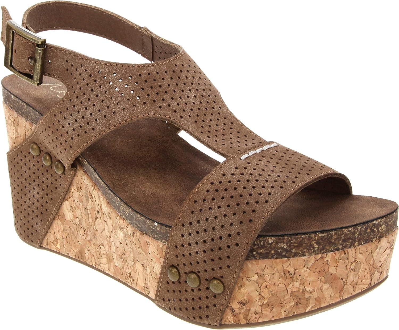 Sugar Women's Junebug 2 Platform Cork Wedge Sandal