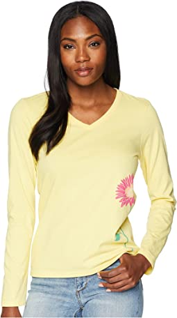 Namaste Daisy Long Sleeve Crusher Vee