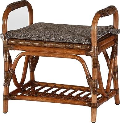 マダムロタン(Madame Rotin) スツール アンティークブラウン 幅52×奥34x高さ52×座高40cm スツール 軽量 01-0370-03