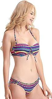 ZITY Womens Two Piece Sexy Push Up Padded Bikini Swimsuit,Criss Cross Bathing Suits