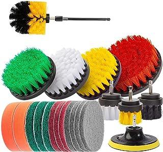 Juego de 22 cepillos eléctricos para taladro con paño de limpieza, esponja para fregar, cepillo de fregado eléctrico, limp...