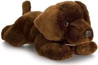 Butlers Hund braun meliert liegend Schal 55 cm Stofftier Plüschtier Kuschel //180