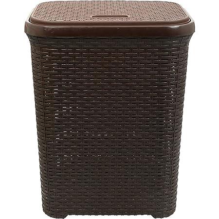 Esquire Laundry Basket, Size-50L (Brown)