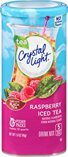 Crystal Light Raspberry Tea Drink Mix (72 Packets, 12 Canisters of 6)