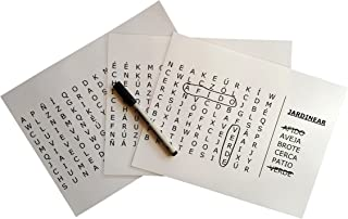Spanish Word Search Grab & Go - Nivel 2 (Medio) Puzzle for Dementia and Alzheimer's