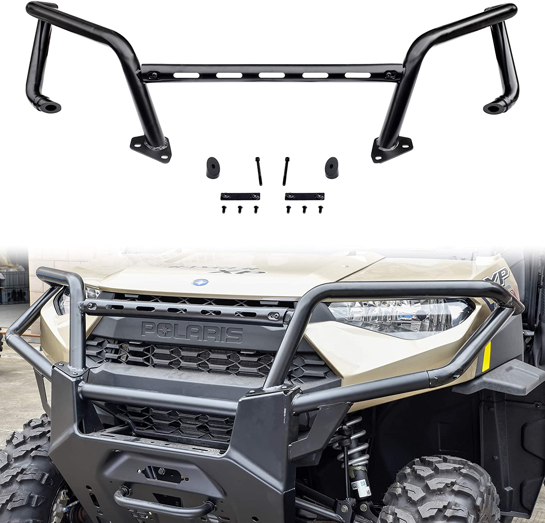 Front Bumper for Ranger XP 1000, SAUTVS Upper Front Brush Guard Bumper Protector for Polaris Ranger XP 1000 Crew Diesel 2018-2021 Accessories, Replace #2882531