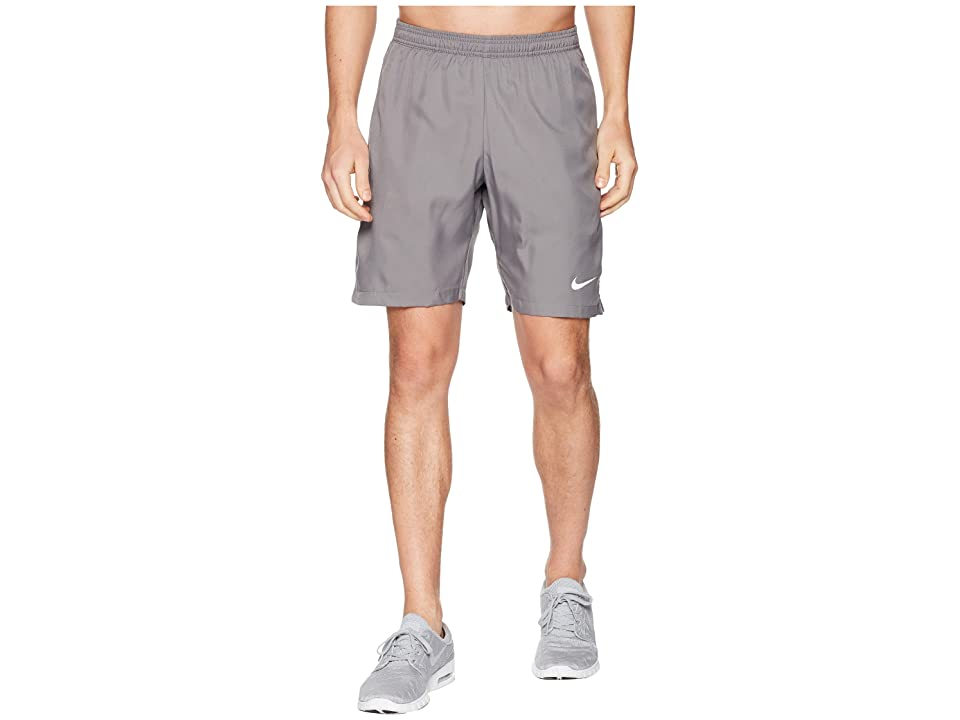 Nike Court Dry 9 Tennis Short (Gunsmoke/White/White) Men