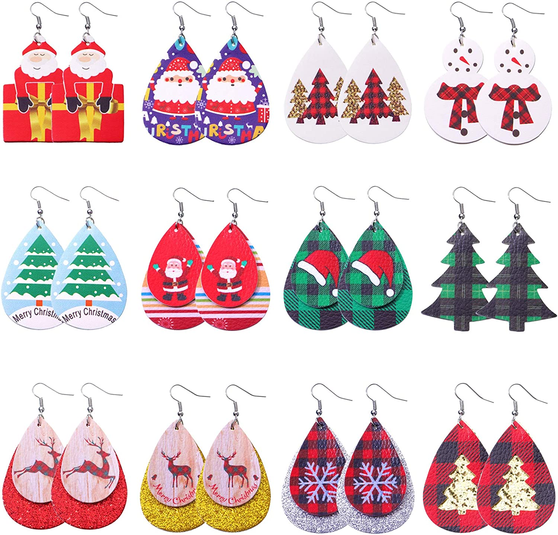 Biokia Christmas Earrings Excellence For Xmas Women Dangle Cheap sale Lightwe