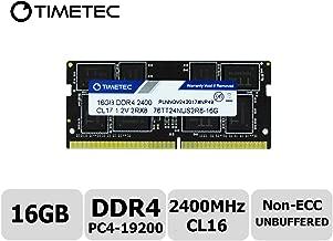 Timetec Hynix IC 16GB DDR4 SODIMM for Intel NUC KIT/Mini PC/HTPC/NUC Board 2400MHz PC4-19200 Non ECC Unbuffered 1.2V CL17 Dual Rank 260 Pin Memory Upgrade(16GB)
