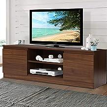 Artiss TV Stand 120cm Length Entertainment Unit with Storage - Walnut