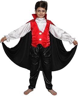 Kaku Fancy Dresses Red & Black Kids Vampire Dracula Costume for Halloween/California/Cosplay Competition
