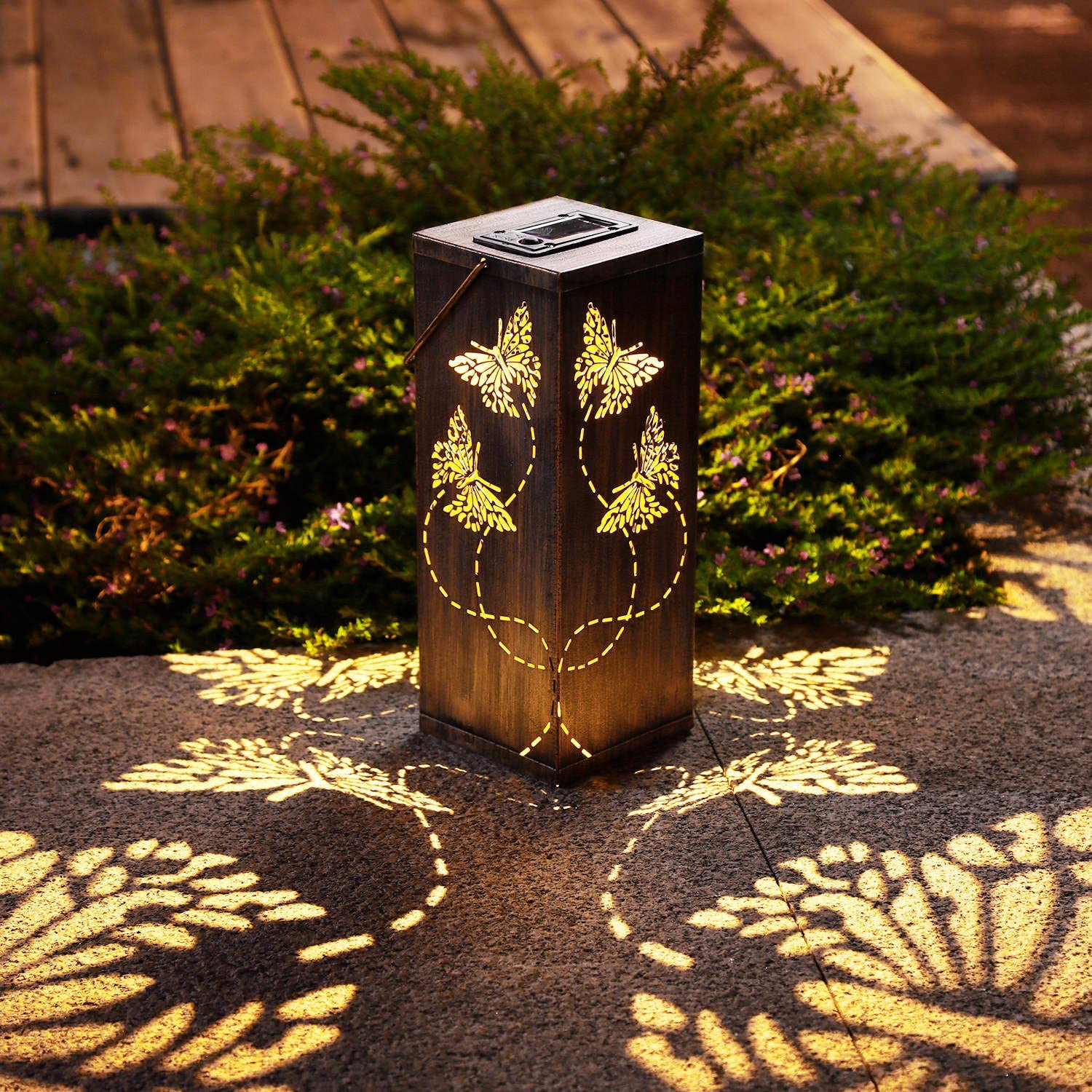 2 Pack Solar Lantern Lights Butterfly Decor Ranking TOP16 Outdoor with Max 41% OFF Garden