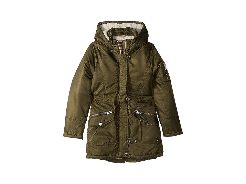 Urban Republic Kids Lupita Poly-Twill Anorak Jacket (Little Kids/Big Kids) (Olive) Girl