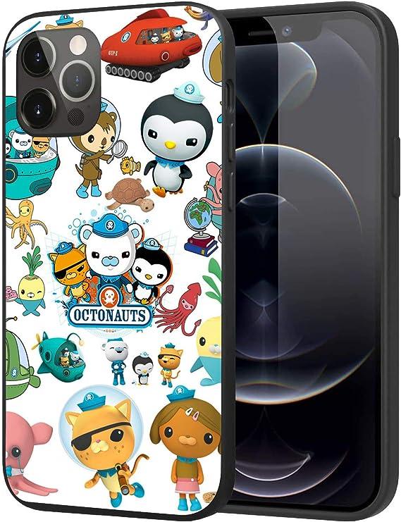 兼容 iPhone 12 手机壳 iPhone 12 Pro 手机壳软硅胶 TPU 弹性保护套保护套(海底小纵队)