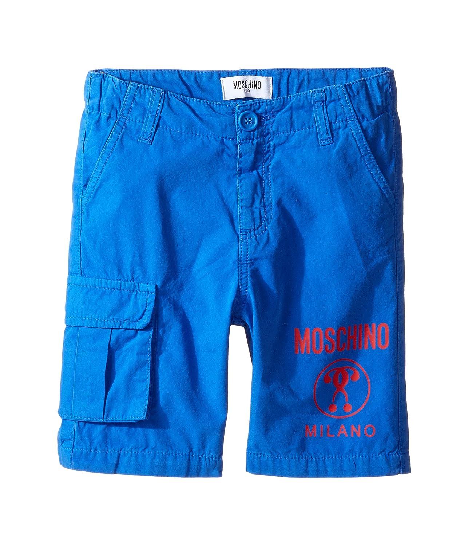 [モスキーノ] Moschino Kids ボーイズ Shorts w/ Side Pocket & Logo Detail (Little Kids/Big Kids) パンツ [並行輸入品]