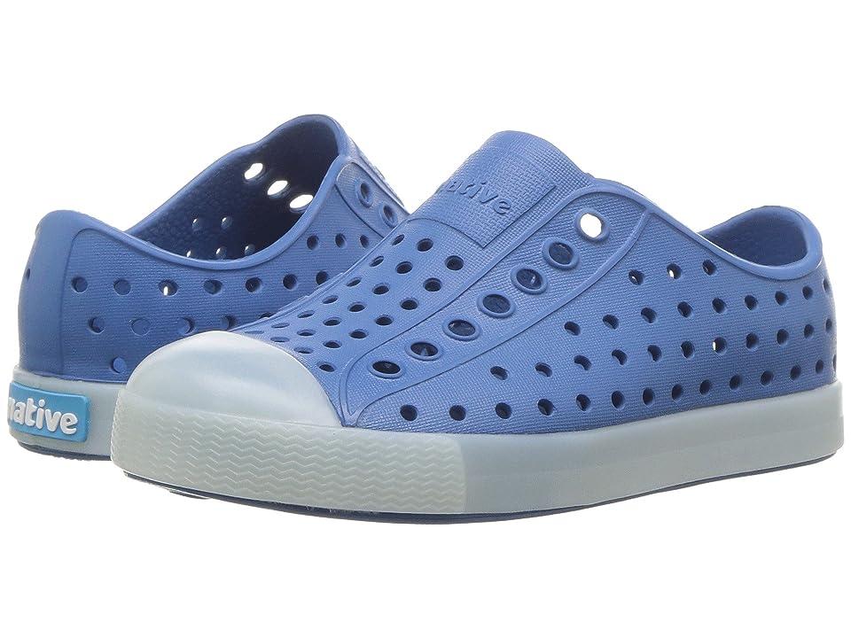 Native Kids Shoes Jefferson Glow (Toddler/Little Kid) (Storm Blue/Glow) Kids Shoes
