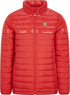 Formula 1 Men's Padded Full Zip Jacket Scuderia Ferrari, Black, Large