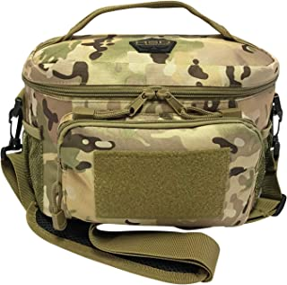 HSD Lunch Bag, Insulated Cooler, Thermal Lunch Box Tote with MOLLE/PALS Webbing, Adjustable Padded Shoulder Strap, for Tactical Men Women Adults and Boys Girls Kids (Multicam)