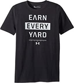 Under Armour Kids Earn Every Yard Short Sleeve Tee (Big Kids)