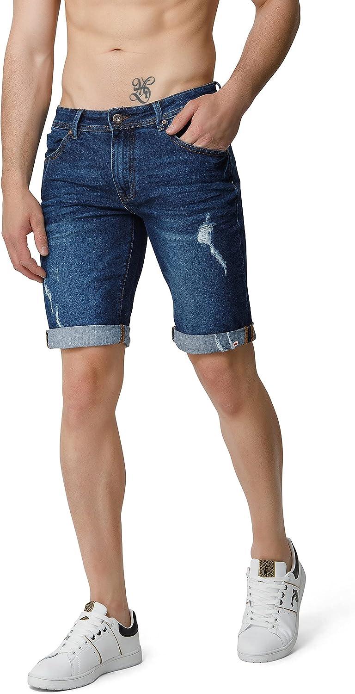 BOXEUR DES RUES - Kenner Short Jeans, Man Mid Blue, 29