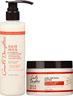 Curly Hair Products Gift Set by Carol's Daughter, Hair Milk Cleansing Conditioner & Curl Defining Butter, For Curls, Coils, Kinks, Waves, with Agave Nectar, Paraben Free, 2 Count