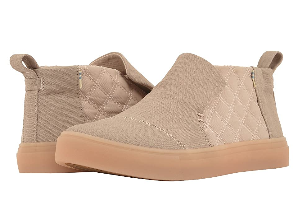 TOMS Paxton Water-Resistant Slip-Ons (Dark Blush Textural Canvas/Quilted Nylon) Women