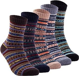 Yannik Men's Warm Soft Comfort Crew Winter Socks (Pack of 5)