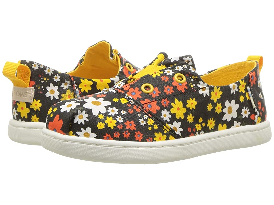 TOMS Kids Lumin (Infant/Toddler/Little Kid) (Black Multi Retro Floral) Girl