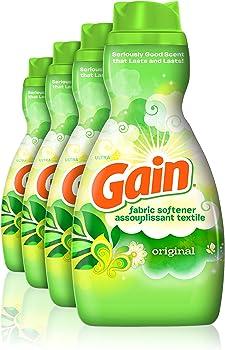 4-Pack Gain Original Liquid Fabric Softener (41 fl oz)