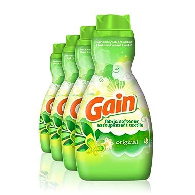 Gain Liquid Fabric Softener, Original, 41 fl oz, 4 Count