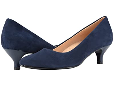 Trotters Kiera (Navy Suede Leather) Women