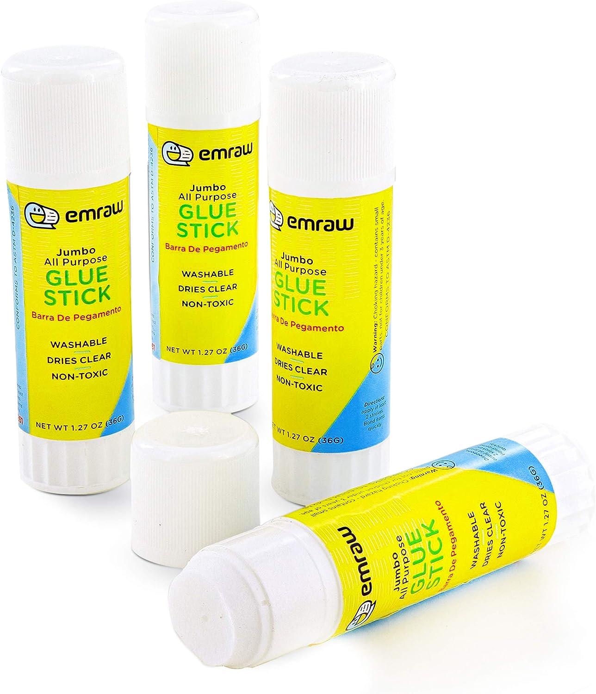 Trust Emraw Jumbo Washable Glue Stick Safe Smooth Acid Free High order St Wrinkle