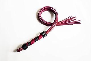 RED flogger, fustigatore rosso cuoio, fetish leather whip, frustino pelle, gatto a 9 code, flagellatore soft bondage, bds...
