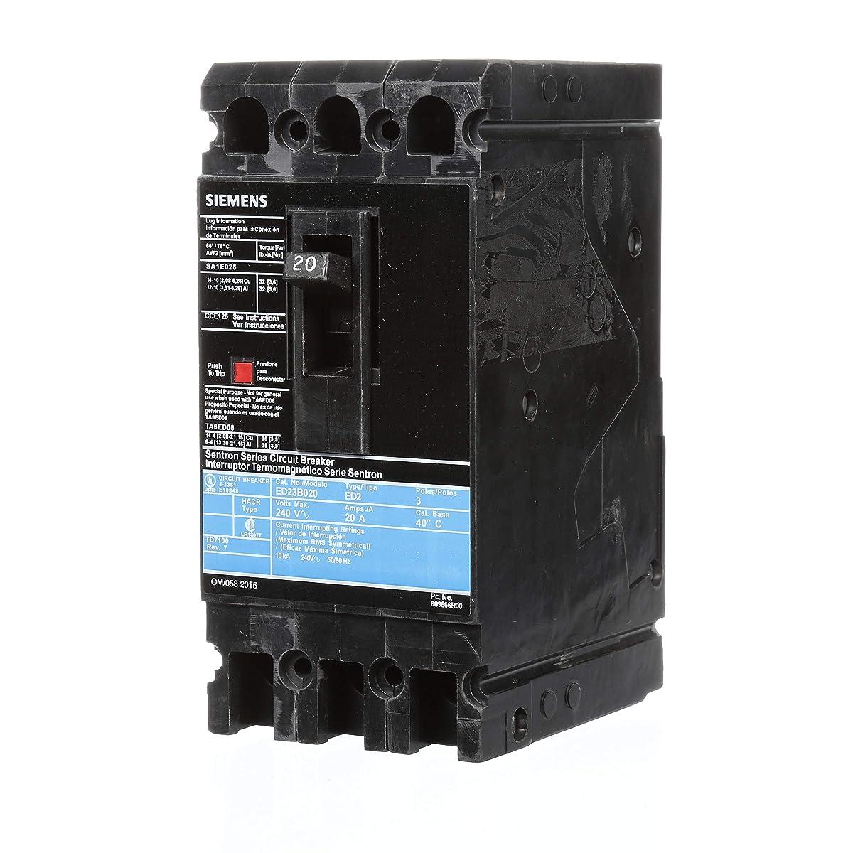Siemens ED23B020 Circuit Breaker, Type ED2, 20 Amp, 3 Pole