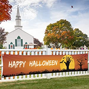 Happy Halloween Decorations Banner Large 120