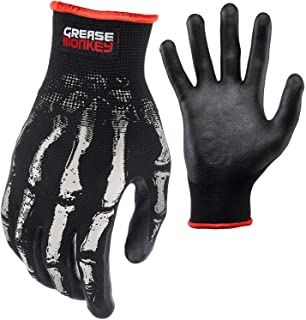 Bone Series Foam Nitrile Mechanic Gloves with Grip, Work Gloves and All Purpose Gloves