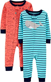 Boys' 2-Pack Cotton Footless Pajamas