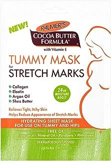 Palmer's Cocoa Butter Formula Tummy Mask for Stretch Marks & Pregnancy Skincare | Dermatologist Tested | 1.1 oz Single-Use Sheet Mask