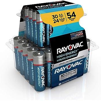 Rayovac AA Batteries & AAA Batteries Combo Pack, 30 AA and 24 AAA (54 Battery Count) (AL-54PP)