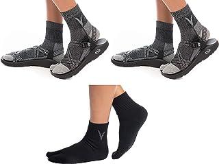 3 Pairs V-Toe Wool Flip Flop Big Toe Tabi Socks Men, Women Warm Comfortable Blend