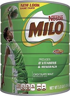 Milo 巧克力麦芽混合饮品,3.3磅(1.5千克)罐装| 强化粉质能量饮料